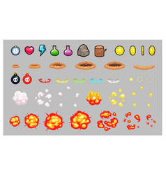 Miscellaneous items game sprites vector