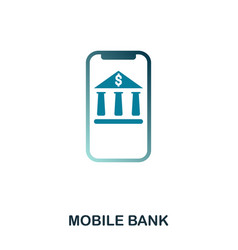 mobile bank icon flat style icon design ui vector image