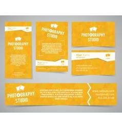 Modern light identity set Business card banner vector