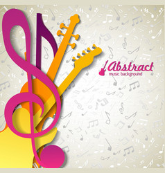 Multicolored abstract music background vector