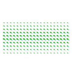 Natural leaf with drop shape halftone grid vector