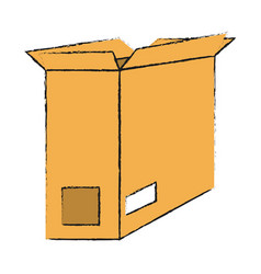 Open cardboard box icon image vector
