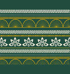 Peacock geometric ethnic pattern seamless design vector