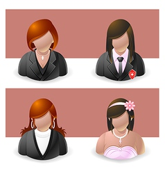 People Icons Women vector image