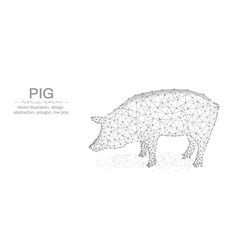 pig new year made by points and lines polygonal vector image