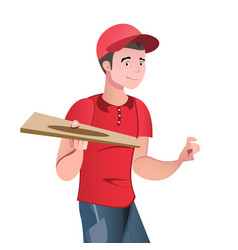pizza delivery in form vector image