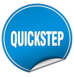Quickstep round blue sticker isolated on white vector