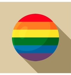 Rainbow ball icon in flat style vector image
