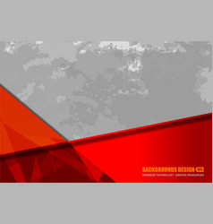 red grey background grunge vector image