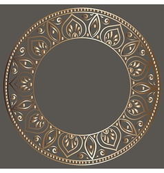Round gold frame vector