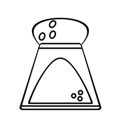 Salt shaker bottle ingredient cooking outline vector