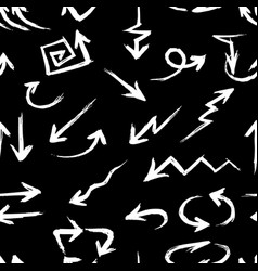seamless background drawn arrows vector image