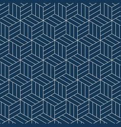 Seamless japanese-inspired geometric pattern vector