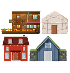 set of different house vector image