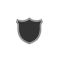 shield icon isolated guard sign flat design vector image