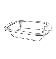 sketch of containers food storage vector image