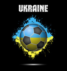 Soccer ball in the color of ukraine vector