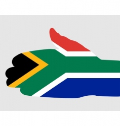 south African handshake vector image