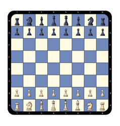 Top view flat chessboard chess game vector