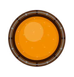 top view of a wooden beer barrel vector image