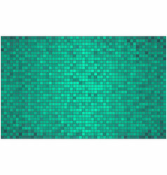 Turquoise abstract mosaic background vector