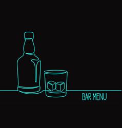 Whiskey one line art vector