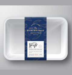 worlds best bison abstract plastic tray vector image