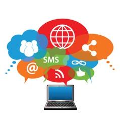 blogging computer vector image