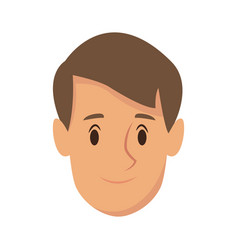 cartoon man young character smile image vector image