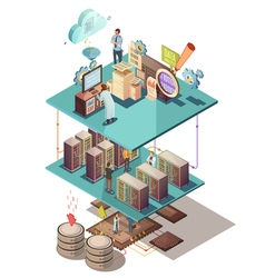 Data Analysis Isometric Concept vector image vector image