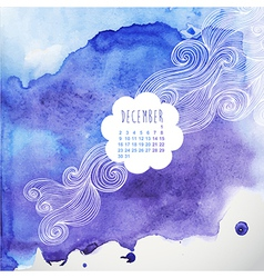 hand drawn watercolor background with decorative vector image