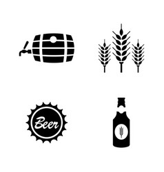 Malt beer simple related icons vector