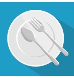 plate spoon and fork design vector image