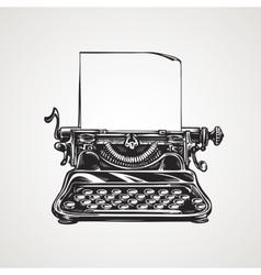 Vintage mechanical typewriter Sketch vector image