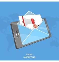 Email marketing conceptual vector image vector image