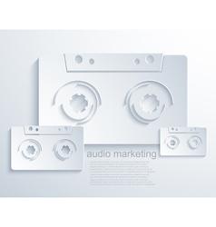 modern audio marketing background vector image vector image