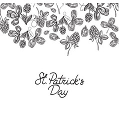 monochrome decorative design postcard doodle vector image vector image