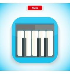 Music App Icon Flat Style Design vector image