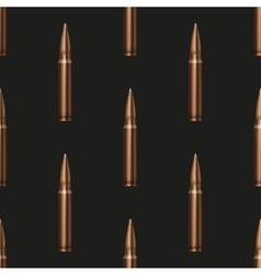 Rifle Bullets pattern background vector image