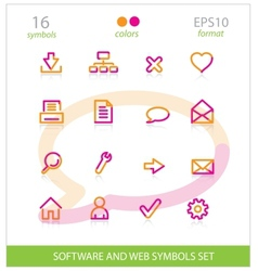 Creative interface software symbols set vector