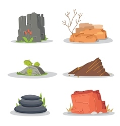 Garden Rocks and stones single or piled for damage vector image
