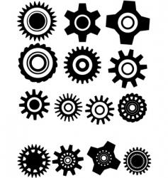 gear wheel vector image