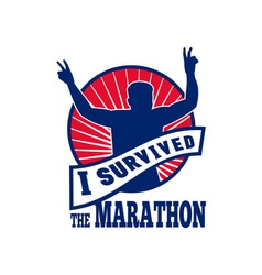 marathon runner i survived vector image vector image