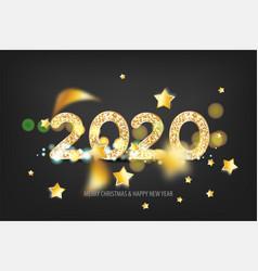 2020 new year golden banner vector image