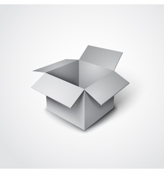 3d open box in a realistic style vector image