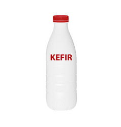 a bottle of kefir in isolated on white back vector image