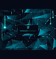 abstract technology blue triangles and low vector image