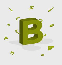 Alphabet 3d logo - letter b vector
