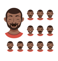 american african men facial expression vector image