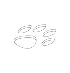 Animal paw icon isometric 3d style vector image